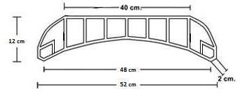 Bovedilla Cerámica 60 entre ejes curva