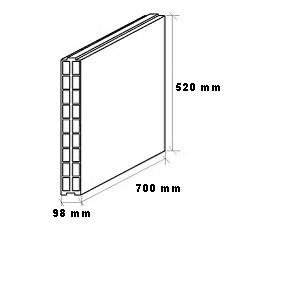 Tabique 70x52x10